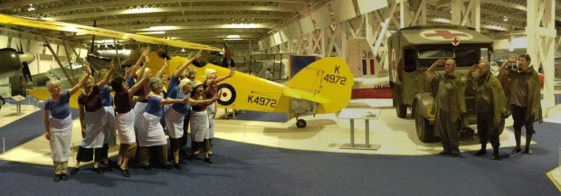 """Counterpoint perform """"Letter Home"""" as part of D-day celebrations at RAF museum, Hendon."""